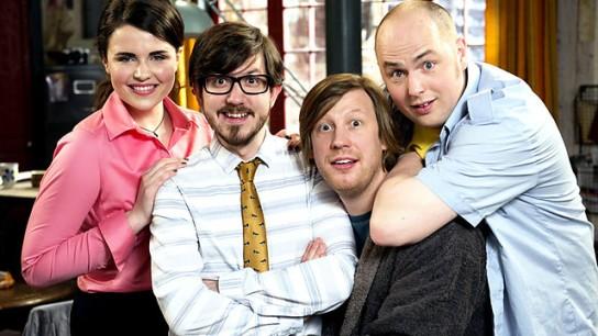 Rachael, Matthew, Ben y Tom son los personajes de Badults